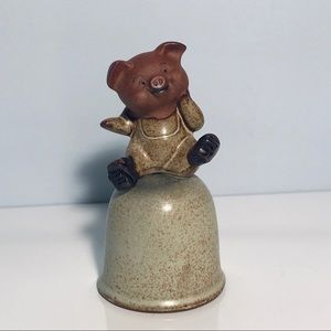 UCTCI Stoneware Pig Bell Giftcraft Japan Vintage